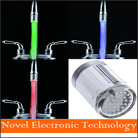 Wholesale New Arrival Three Color Temperature Control LED Light Water Faucet Glow Shower Temperature Sensor