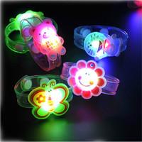 light up toys - 24pcs Fashion children baby kids Cartoon toys flash Strap LED wrist band Luminous Bracelets Festival kids light up toys