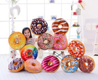 Wholesale 10PCS LJJH921 Christmas Gift doughnut Hamburger Cushion Emoji pillows lovely Cute plush toys doughnut Cushion for girl
