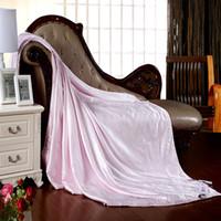 Venta al por mayor de alta calidad de 1,5 kg jacquard verano 100% pura seda de mora del edredón edredón de la flor rosada 100% 180x220cm funda de edredón de algodón