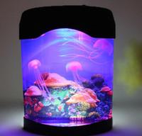 aquarium gifts - 50pcs dhl Jellyfish Aquarium with LED Lights colorful led fish tank aquarium Stunning Fantastic Gift