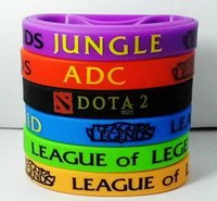 adc supply - LOL GAMES DOTA2 Souvenirs Silicone Wristband Bracelets colors Bracelets lol accessories ADC JUNGLE MID SUPPORT TOP good supplies