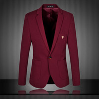 Wholesale Mens Blazer New Arrival Spring And Autumn Suits Jacket For Men Solid Color Blazer Men Fashion Slim Fit Man Jacket Plus Size XL XL