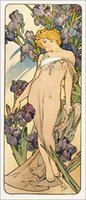 alphonse mucha paintings - Gift Oil Painting Lovely Iris Art by Alphonse Mucha hand painted High qualilty