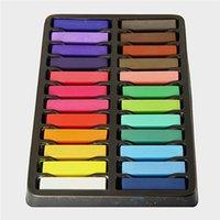 Wholesale 2014 Colors short hair Fashion Hot Fast Non toxic Temporary Hair Chalk Dye Soft Pastel DIY mix color