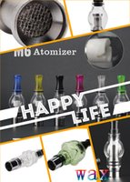 ceramic heater - Glass Globe Atomizer Dome Tank with two extra coils Wax Oil Vaporizer Ceramic Heater Skull or bulb shape ego series portable vape pen