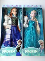 8-11 Years Unisex as picture 2014 Hot sale item 11.5 inch Frozen Figure Play Set Elsa Classic Toys Frozen Toys Dolls with snowman olaf for girls kids gifts 50pcs