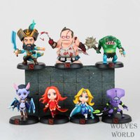 Wholesale 7pcs Set Game DOTA Kunkka Lina Pudge Queen Tidehunter PVC Action Figures Collection Toys