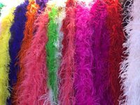 ostrich feather boas - New Arrival Yards lengh OSTRICH FEATHER BOA Costumes Trim for Party Costume Shawl Craft colours Available FREESHIPPING