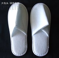 Wholesale 2015 White Cheap Disposable Slippers Hotel Thickening Plush Slippers High Qulity Piece New Arrive