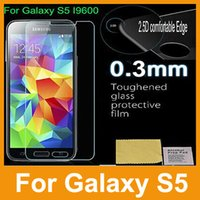 Wholesale 100 Genuine mm Premium Tempered Glass Film Screen Protector for Samsung Galaxy S5 MOQ DHL Fast Ship