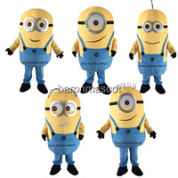 minion costume - Despicable me minion mascot costume adult size Party Clothing styles PolyFoam Real image