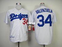 angeles store - 30 Teams Los Angeles Fernando Valenzuela Jersey Retro White Blue Grey Fernando Valenzuela Dodgers Jersey Store No
