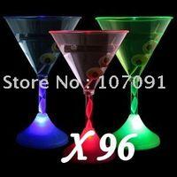 margarita glass - LIGHT UP LED FLASHING MARGARITA WINE MARTINI GLASS FREE EMS SHIPPING
