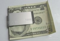 Wholesale Can print logo Double Sided Money Clip Slim Clip No More Bulky Wallets Fashion Mens Present Silver Stainless Steel Money Wallet Clip Gift