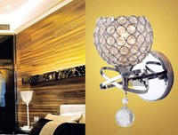 Wholesale Modern LED Wall Light Wall Lamp Crystal Metal for Bedroom Living Room Reading Sconce Lamp Chrome Color E14