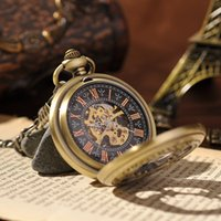 beetle watches - Japan Lucky Pet Beetle Pendant Vine Skeleton Steampunk Pocket Watch With Chain Antique Classic Mechanical Pocket Watch