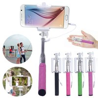 Wholesale Brand New Super Mini Nova Extensivel Self Selfie Stick Monopod Cable Holder for iPhone Android smartphone monopod mirror