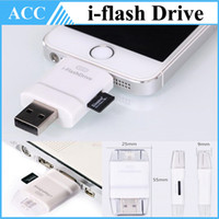 SD mobile card memory - I flash drive Dual Card Reader Between iDevices and Mac PC for iPhone iPod iPad Mobile Phone Extended Memory Card USB i FlashDrive DHL