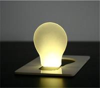 Wholesale 10 pic Novelty Items Funny LED flat foldable Pocket card Wallet Light credit card mini Emergency Lights LED card light
