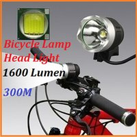 Wholesale 1600LM CREE XML XM L T6 LED Bicycle Lamp Bike Head Light mAh Battery Switch Mode high low sos