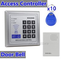Wholesale 125KHz RFID ID Card Reader Keypad Door Bell For Access Controller Kit Security System KD2000