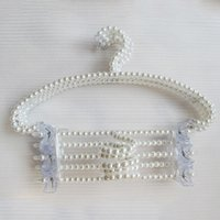 Wholesale pearl beaded hanger can anti slip hanging women clothes and it very beautiful