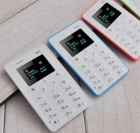 Wholesale New mm Ultra Thin AIEK M5 card mobile phone mini pocket students children phone the most thin kids card phone