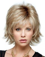 fashion hair short wig - Short Layered Synthetic Human Hair Wigs Straight Loose Wigs For Black Women Fashion Cool Synthetic Short Hair