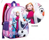Wholesale Frozen children school bags infant kids backpack child schoolbag D Frozen children school bags infant kids backpack child schoolbag SL