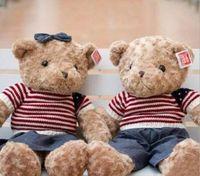 bear factory clothes - 1 piece NEW STYLE CM Stuffed Soft Plush Toys Teddy Bear cowboy clothing teddy bear Children s Gifts Factory plush toys