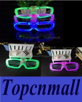 Wholesale EL Wire Glowing Glasses LED Glowing Glasses Flashing Glasses Fluorescence Cold Light Glasses Party Glasses DJ Party Christmas Holiday Props