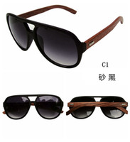 PC bamboo sunglasses men - Hot Sell Wood Sunglasses Designer Natrual Bamboo Sunglass Eyewear Glasses Style Hand Made WoodeAn Temples Plastic FrameZy00010