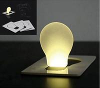 Wholesale 10PCS Creative Design Portable Mini Pocket Lamp Foldable Colorful LED Card Light Fashionable LED Christmas Card Light as Lighting Gifts