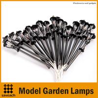 Wholesale Black Model Garden Lamps HO Scale Model Layout Single Head Garden Lights Lamppost Lamp Landscape Light