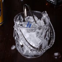 acrylic champagne bucket - 2015 NEW Acrylic Ice Bucket Clear Wine Beer Chiller Bar KTV Accessory Champagne Cooler Crystal w Handle