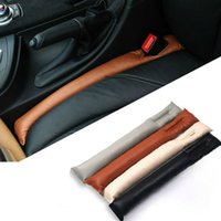 Wholesale 2015 Faux Leather Car Seat Gap Pad Fillers Holster Spacer Filler Padding Protective Case Auto Cleaner Clean Slot Plug Stopper