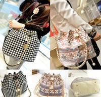 Cheap Hot Sales Designer Large Women Lady Vintage Canvas Bucket Style Tote Shoulder Bags Handbag BX173 Free Shipping