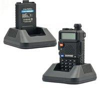 Wholesale 2015 walkie talkie BF UV5R Handheld Portable Walkie Talkie BaoFeng UV R CH Dual Band UHF VHF DTMF Two Way Radio Transceiver DHL Free