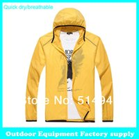 Cheap Wholesale-Dropshipping new Men Women Sports Camping Fishing Thin Quick Dry Jackets Light weight Waterproof Breathable summer windbreaker