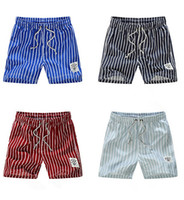 Wholesale New Mens Swimming Shorts striped Fashion Mens Swimwear Mens swimming Trunks Quick dry mens Beach shorts pants Top quality Free ship D234