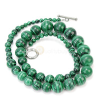 Wholesale Green Malachite Round Gemstone Loose Beads Necklace Chain mm quot Jewelery
