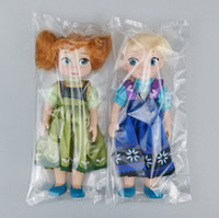 Wholesale High Quality Children Dolls Princess Elsa Anna Froze Cartoon Toys Kids Baby Toy Sonw Queen Doll Kids Christams Birthday Gift E1449