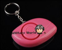 Wholesale Portable Self Protection Alarm Defense Safety Security Alerter Ring With LED Emit A High Frequency Alarm Place On Key Handbag order lt no tr