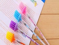 best quality brushes supplies - Best quality store Black Refill Brush Head Gel Pen Mix Colores Gel Ink Pen Stationery Office School Supplies GP308