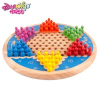 Wholesale Wool multicolour hexagonal drauhghts child gustless educational toys