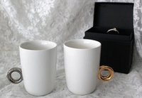 mugs - 72pcs Couple Ring Mug Fashion Romantic Ceramic Water Cup Birthday Valentines Day Gifts