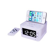 android radio stations - Bluetooth Speaker System Alarm Clock FM Digital Radio and Charging Station for iPhone Android