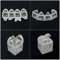 bird cage mini - Hot Sell Mini Bird cage DIY Candy Cookie Gift Boxes with White Ribbon RomanticWedding Party Candy Box Wedding Favor Decor
