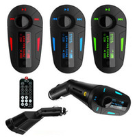 audio electronic kits - 2015 Blue red green electronics Car Kit MP3 Player Wireless FM Transmitter Modulator audio MMC remote control rty